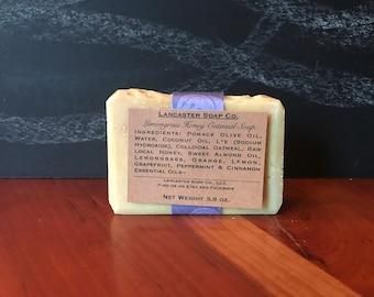 Lemongrass Honey Oatmeal Soap
