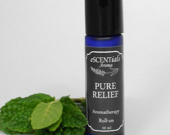 Headache Remedy, Relief, Migraine relief, essential oil blend, Aromatherapy Oils,  Roll On, headache roll-on, therapeutic, Pure Relief