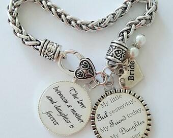 Bride Gift / Gift for Bride / Gift for Bride from Mom / Dad / Wedding Keepsake / Bride Gift from Mom / Dad / Bracelet for Bride