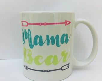 Mama bear coffee mug|mom life|mothers day gift|
