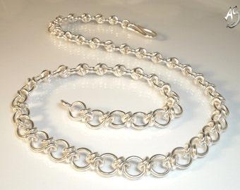 silver necklace handmade - MY BELOVED