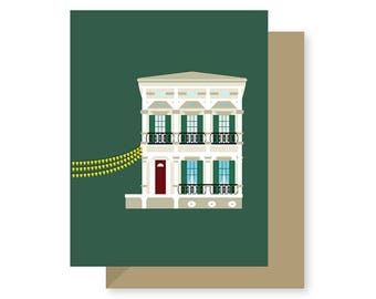 Degas House, French Degas Painter, Historic Building Architecture Louisiana, New Orleans Greeting Card