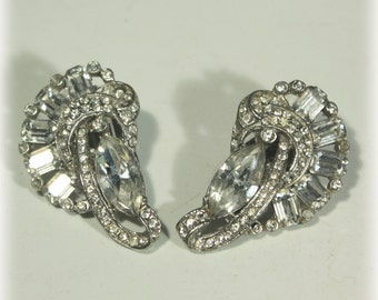 Rhinestone Earrings, Dressy Earrings, Evening Earrings, Wedding Earrings