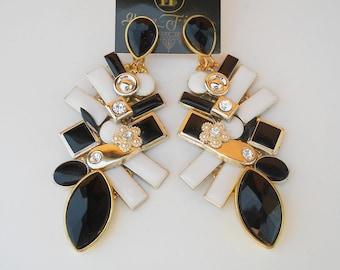 Statement Earrings Chandelier Earrings Big Earrings Asymmetric Earrings Bib Earrings Rhinestone Earrings Hippie Earrings Gift For Her