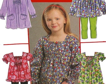 Girl's Top/Blouse Sewing Pattern UNCUT McCall's M5693 Children's Size 6-8
