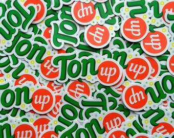 "Ton Up Sticker 3""x1.44"""