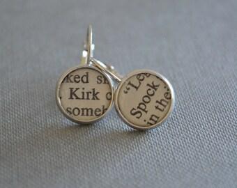 Star Trek Jewelry Kirk and Spock Earrings