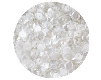 8mm Cup Sequins Crystal Clear Luster