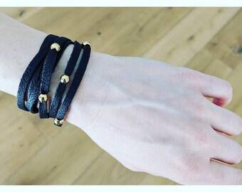 Leather Wrap Bracelet, Leather Bracelet, Boho Wrap Bracelet, Wrap Bracelet