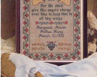 Angel Birth Sampler Leaflet for Counted Cross Stitch - #35L