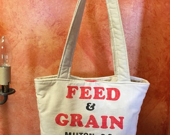 No. 134 feed & grain Feedsack Handbag
