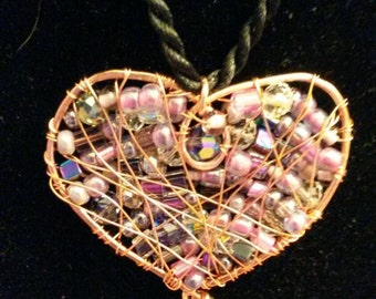 Reversible Wire Wrapped Heart