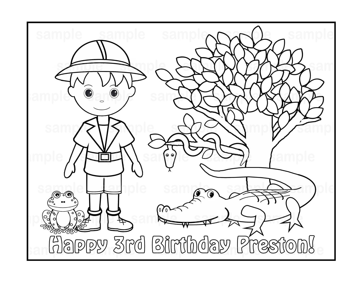 zoom - Safari Coloring Pages