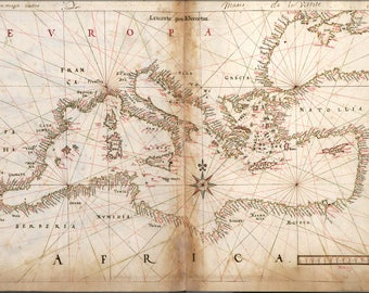 Poster, Many Sizes Available; Map Chart Of The Mediterranean Sea 1630  P2