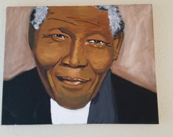 Nelson Mandela painting 16 x 20 original art