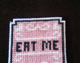 "Alice in Wonderland ""Eat Me"" Cookie Patch, 2"" x 2"""