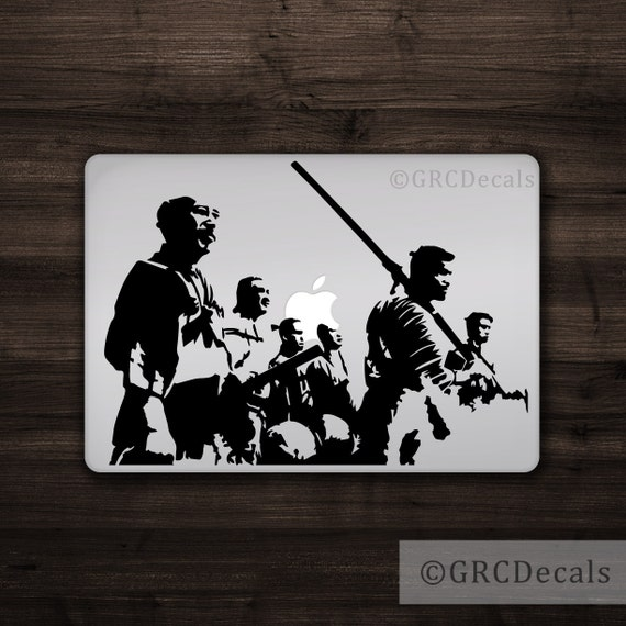 Seven samurai mac apple logo cover laptop vinyl decal sticker macbook decal japanese samurai decal