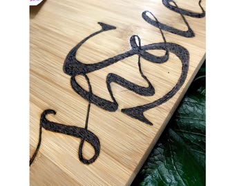 Custom Monogrammed Cutting Board.