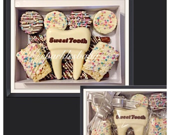 Sweet Tooth, Dentist Gift, Gourmet Chocolate Gift set