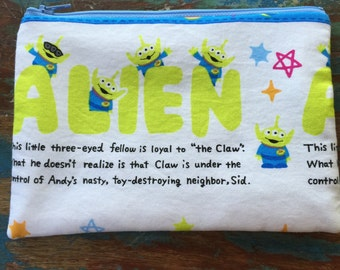 SALE medium zipper pouch toy story III