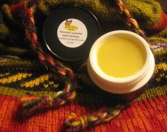 Parfüm, Patchouli Lavendel Solid Parfüm, erhältlich in den Topf oder Tube, Duft