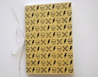 Skull head Journal handprinted Notebook