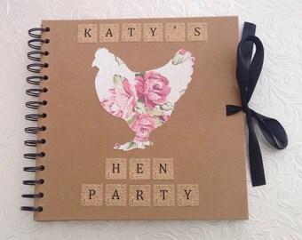 "Personalised Hen Party Scrapbook 8"" x 8"""