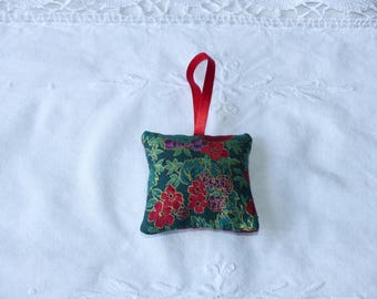 Small bright Christmas pillow