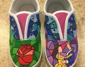 Beauty and the beast custom shoes