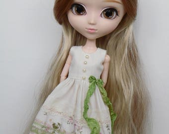 Green Spring dress for pullip blythe azone momoko obitsu and similar dolls