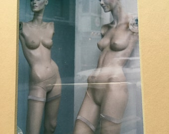 Original Figural Color Photograph 'Quay Street Mannequins' Galway, Ireland signed Cohan 93'