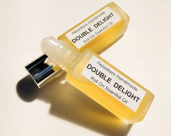 Double Delight /Roll On Essential Oils, Roll On Perfume,Aromatherapy Roll On,Essential Oil Perfume,Natural Perfume,Pleiadians Handmade
