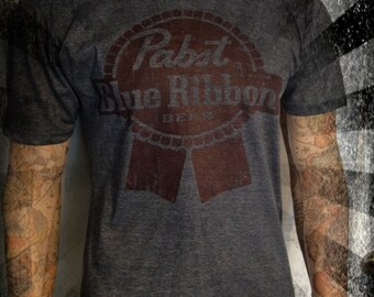 Pabst Blue Ribbon Vintage look T shirt all sizes Small Medium Large XL XXL XXL