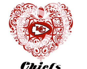 Football (Kansas City) Ornate Heart SVG File