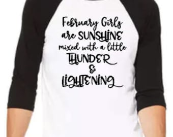 February Girls- Raglan Baseball Tee