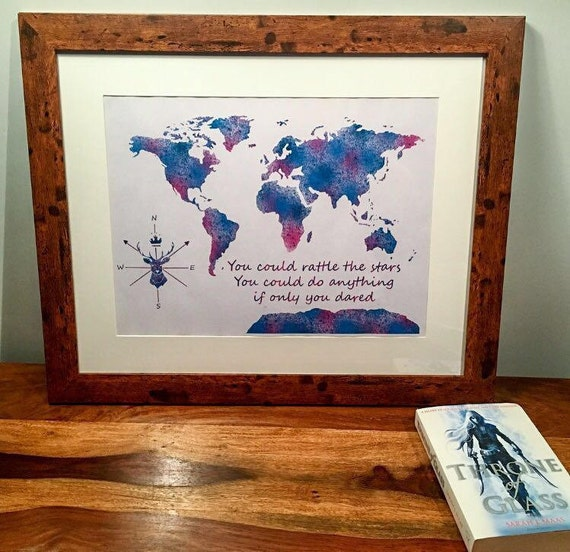 Throne of glass themed map world map throne of glass wall like this item gumiabroncs Gallery