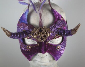 Purple Dragon Masquerade Mask
