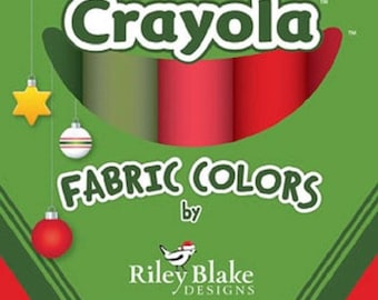 Crayola Christmas Colors-Riley Blake-10 Fat Eighths