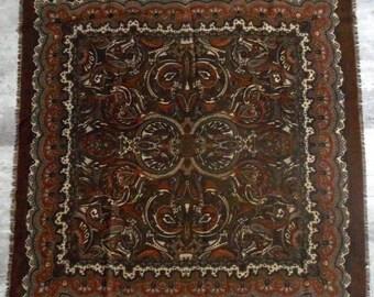 Vintage brown Vintage scarf Brown scarf