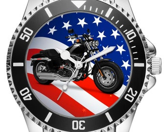 Gift for Harley Davidson Fat Bob motorcycle fan Driver Watch 20300