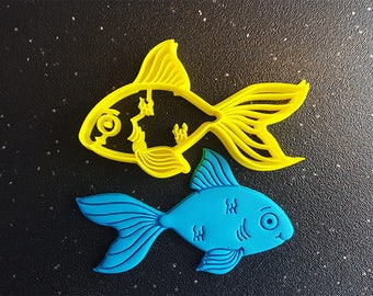Goldfish Cookie Cutter - 3D Printed - Bakery Cookie Cutter - Fish Cookie Cutter - Custom Cookie - Clay Cutter - Fondant Cutter  - FunOrders