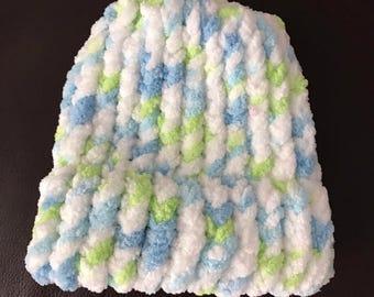 Multi colored newborn hat