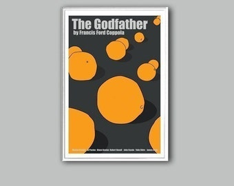 The Godfather movie poster in various sizes