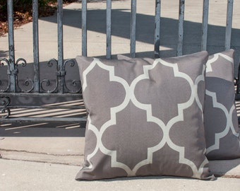 Pair of Gray/light gray Pillow Covers