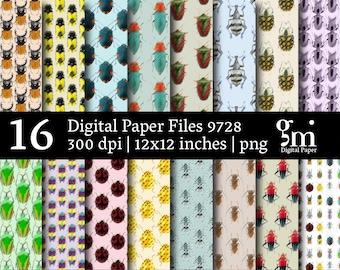 Beetles Digital Paper