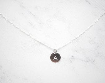 Chain initial platelets – 925 silver