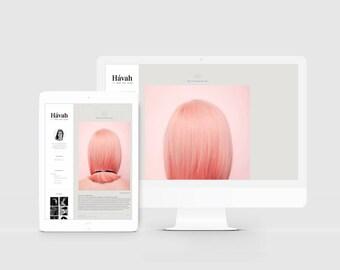 Fashion Blogger Template — Magazine Style Blog Design — Photography Blog Template — Responsive Blogger Theme — Portfolio Template / Hávah