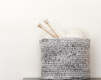 Chunky Crochet Basket, Storage Basket, Planter Basket, Home Decor | THE BREMERTON