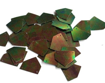 25 Metallic Polygon Sequins / PPS522