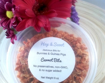 Carrot Bits (6 oz)  -- Treat for Bunnies and Guinea Pigs